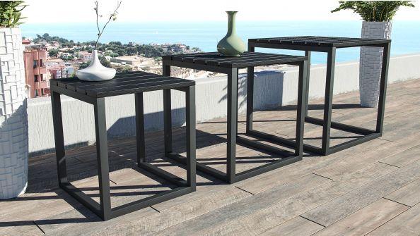 Zestaw 3 stolików Modern