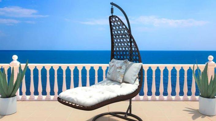 Nolina - Technorattanowe krzesło wiszące